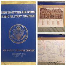 1974 Usaf Basic Training Yearbook W/ Signed Pic! Squad 3704 Flight 801 Lackland