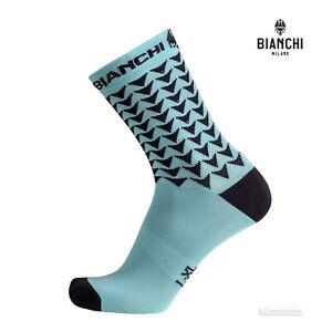 Bianchi Milano MAIORI Coolmax Cycling Socks : CELESTE/BLACK