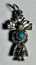 """Charm - 1"""" - 3.40g Vintage Sterling Silver Native American Indian"""