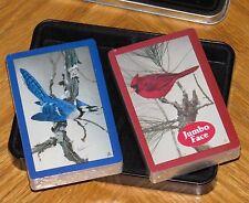 Vtg Hoyle Double Deck Playing Cards - Blue Jay Cardinal Birds Robert Fobear Art