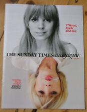 SUNDAY TIMES MAGAZINE 10 AUG 2014 MARIANNE FAITHFULL JAGGER CHLOE GRACE MORETZ