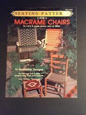 Seating Pattern for Macrame Chairs Pattern Book