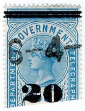 (I.B) Ceylon Telegraphs : 20c on 50c OP