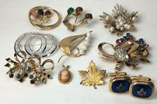 Vintage Gold Filled Jewerly Lot - Pins - Pendent- CuffLinks (Not Scrap)(C384)
