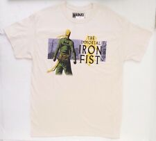 Marvel Comics The Immortal Iron Fist Men's T-Shirt Size Large Vintage Beige NWT