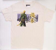 Marvel Comics The Immortal Iron Fist Men's T-Shirt Size Large Vintage Beige NWT