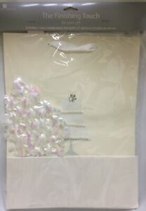 """New American Greeting Finishing Touch Wedding Beige Gift Bag 10 x 20"""""""