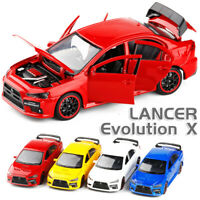 Mitsubishi Lancer Evolution X 1:32 Diecast Model Car Toy Collection Light&Sound