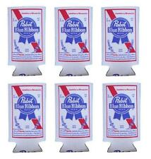 Pabst Blue Ribbon 6 Pbr 16oz Beer Can Wrap Coolers Koozie Coolie Hugie New