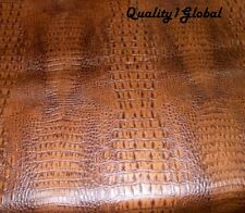 """Alligator leather CUSTOM 24""""x55"""" Perfect for HARLEY STREETGLIDE Motorcycle Seat"""