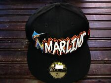 Miami Marlins 59Fifty 5950 NEW ERA FITTED Fish HAT Size 7