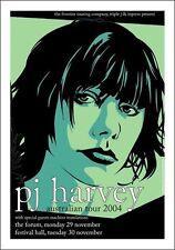 P J Harvey Australian Tour (Melbourne) 2004  Poster Art Joe Whyte