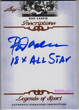 "2012 LEAF INSCRIPTIONS AUTO: ROD CAREW ""18 x ALL STAR"" AUTOGRAPH TWINS/ANGELS"