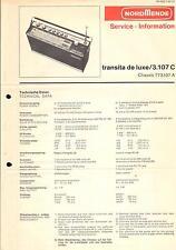 Nordmende Original Service Manual für Transita de Luxe  3.107C