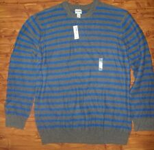 d1279084825 Old Navy Men s Gray   Blue Stripe Crewneck Sweater Size - XXL NWT