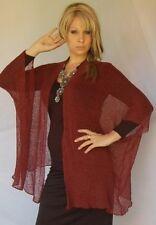 brown jacket poncho vest knit sweater M L XL 2X ZW437
