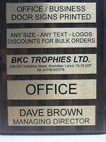 Personalised Metal Door Sign Office Home Business 255mm x 50mm Any Name Any Text