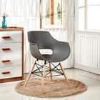 2x Eiffel Tube Chaise salle à manger Olivia style blanc noir gris rouge jaune