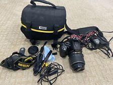 Nikon D5000 DSLR Digital Camera W/ 18-55 Lens / Bag / Charger / Battery / Manual
