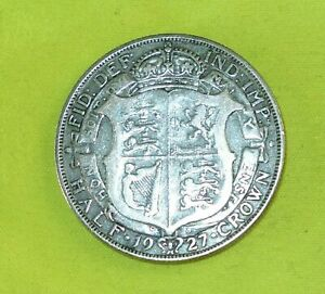 1927 Silver HALF CROWN Coins George V (Combine Postage) b