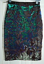 NEW Sz 8 Fits upto 12 Mermaid Sequin & Velvet Topshop Midi Skirt Xmas Party Gift