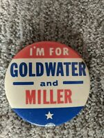 """1964 GOLDWATER /& MILLER 1 1//4/"""" CELLULOID CAMPAIGN BUTTONS 25"""