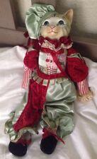 """Katherine's Collection Wayne Kleski Cat Jester Doll 18"""" Tall"""