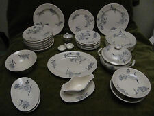 Belle dinette faience longchamp aux bleuets (36p) child miniature dinner service