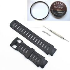 Elastomer Black Rubber Strap band bracelet & gasket battery fits SUUNTO X LANDER