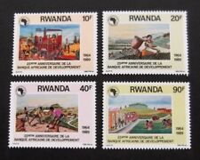 Rwanda-1990-African Development Bank-Full set of 4-MNH