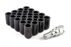 20 X BLACK STEEL WHEEL TUNER NUTS NUT M12x1.5 fit HONDA MAZDA TOYOTA FORD