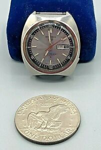 Vintage Mens Seiko 5 Sport WR 21J Automatic Watch 6119-6023 Day Date NO BAND