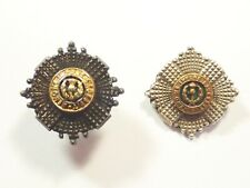 Scots Guards original Officers g/s Collar Badges.