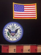New listing Rubber (?) Front & Felt Back Usa Patch & American Flag Patch S78L