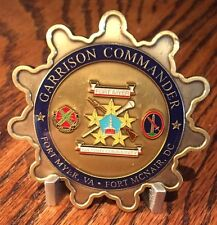 Garrison Commander US Army Fort Myer, Va - Fort McNair, DC Challenge Coin