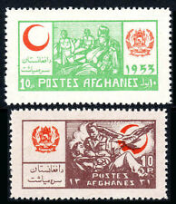 Afghanistan RA16-RA17, MNH. Postal Tax Stamps.Red Crescent.Wounded Soldiers,1953