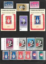 PARAGUAY Sc 829-34 NH ISSUE of 1964 SET+S/S perf imperf Space Kennedy