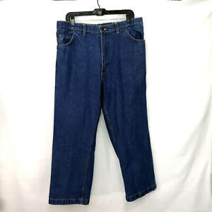 DUKE Haband Men's Relaxed Fit Blue Denim Carpenter Jeans Tag Size 28/S