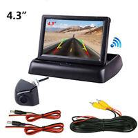 Car 4.3 Inch LCD Rear View Monitor Night Vision Reverse Image Waterproof Camera