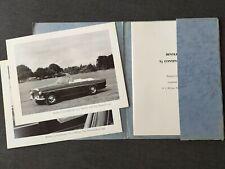 Bentley s3 Continental Convertible ORIGINALE PROSPEKT BROCHURE cartella 1964 Q
