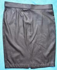 Sussan Stretch Black Skirt Textured Leather LOOK Size XXL Stylish