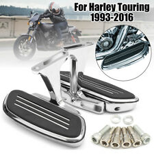 NEW Rear Passenger Foot Pegs Bracket Floor Board Chrome For Harley Touring 93-17