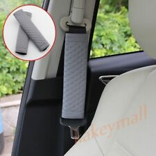 Grey Auto Seat Safety Shoulder Pads Belt Cover Protect Cushion Interior Parts 2X