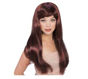 Glamour Wig Red Highlights Bangs Halloween Costume Rubies 50497 NIP