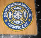 Joseph Berberich Hose Co., Inc. Cedarville, N.Y. Fire Dept. Cloth Patch Only