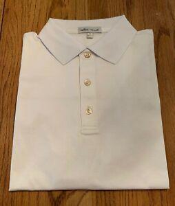 NWT Peter Millar Crown Sport Polo Shirt Size Medium in White