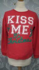 Atmosphere Red Kiss Me Christmas Sweatshirt size 12