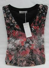 M/&S PERUNA Cotton Stretch Chiffon Print Womens T-shirt Tunic Top 14-16