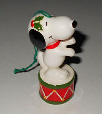 Vintage Merry Christmas 1978 Snoopy Ceramic Ornament - RARE