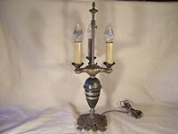 Antique Table Lamp Cast Iron Great Vintage Decor